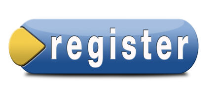 register now member registration button sign or icon photo