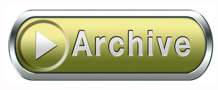 data archiving: archive big digital data storage or personal or website archiving button or icon