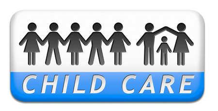 child care in daycare or crèche by nanny or au pair parenting or babysitting children protection against abuse  photo