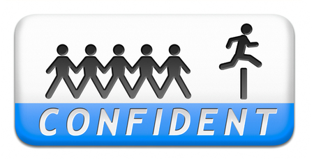 self confidence: confident belive in yourself having self confidence and trust in God