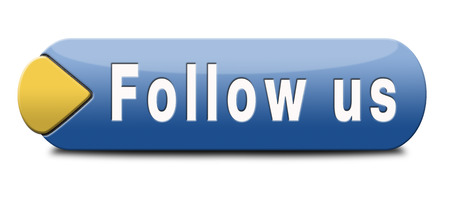 Follow us online and like to join our media network button or icon photo