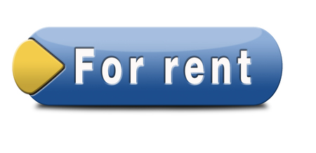 for rent sign: For rent sign renting a house apartment or other real estate button. Home to let icon.  Stock Photo