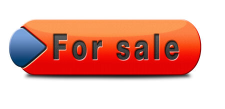 For sale sign selling a house apartment or other real estate button. Home to let icon.  photo