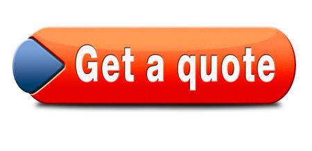 get a quote button or icon Foto de archivo
