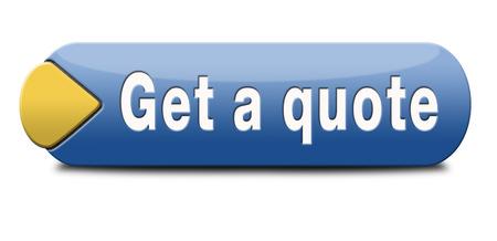 get a quote button or icon Archivio Fotografico