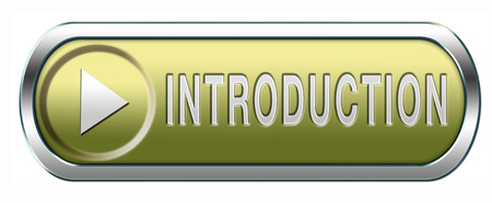 Introduction or about us icon or button a biography or bio photo
