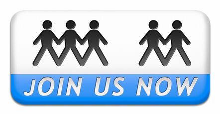 Join us now and register today. Registration icon member button or membership sign photo