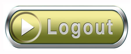 logout button or user or member logout banner Stock Photo