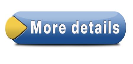 meer details en vind info pictogram, knop of informatie teken. Online onderwijs of hulp of support desk. Zoek leren en vind de kennis online. Stockfoto