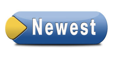 the latest models: newest best or latest model hot news headlines button or icon with text and word concept