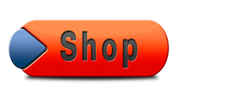 webshop: Shop sign go to the online webshop button, internet web shopping icon