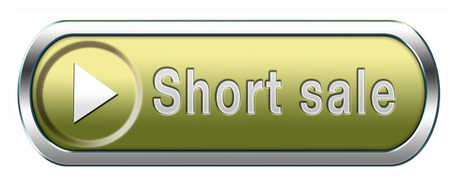reduced: short sale button or icon reduced prices sales banner Stock Photo