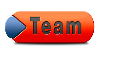 our team: Team button or work or business our team banner about us sign icon or button Stock Photo