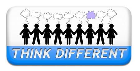 outside box: think different outside the box individual thoughts individuality and own will non conformist