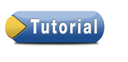 tutorials: tutorial learn online video lesson, website button banner or icon