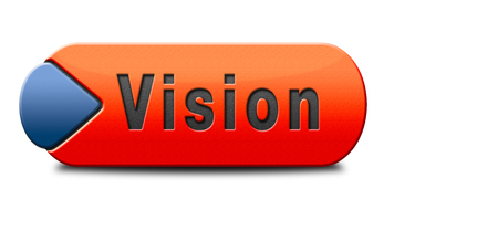 our vision: vision or our policy in business strategy or view on the company about us Stock Photo