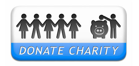 wellfare: piggy bank concept for saving money or giving and donate to charity Stock Photo