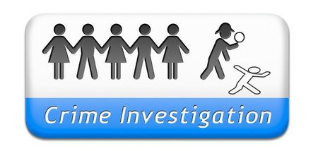 crime solving: crime scene investigation murder forensic science invest criminal case and searching and collecting evidence to solve assassination