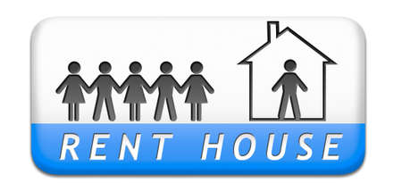 for rent sign: For rent sign, renting a house apartment or other real estate label. Home flat or room to let icon.