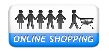 shopping order: online shopping order in internet store or web shop buying online ecommerce webshop button icon or sign
