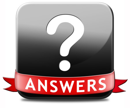 find solution: answers search answer on the questions, solve problems and find solution. result of a pop poll Stock Photo