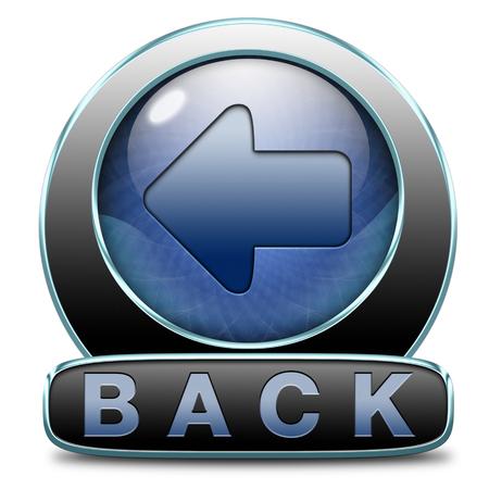 previous: back previous or return button or icon Stock Photo