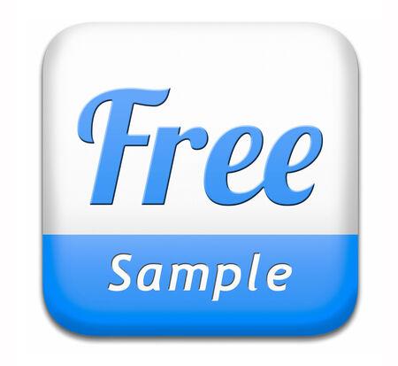 gratis: Free product sample offer or gratis download webshop button or web shop icon or sticker