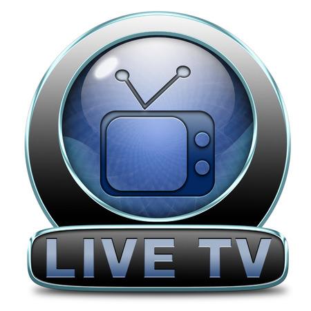 live stream: TV live on air television live stream broadcast Stock Photo