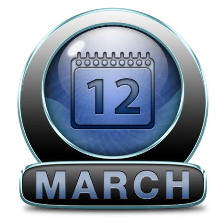 March to next month of the year early spring event calendar Stock Photo - 26913080