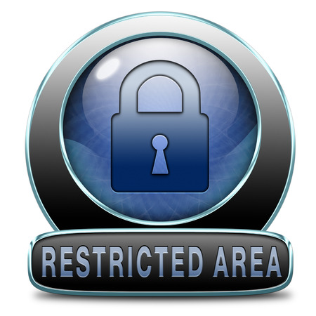 only members: access password protected restricted area members only Stock Photo