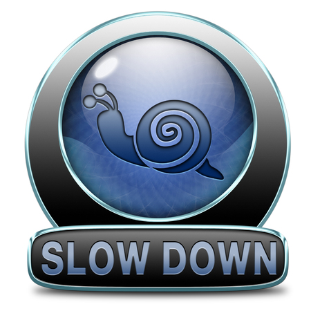 chill out: slow down take it easy, Slowing down reducing stress and slow relaxing life by taking it easy and slowly. Icon or sign for stress management.  Stock Photo