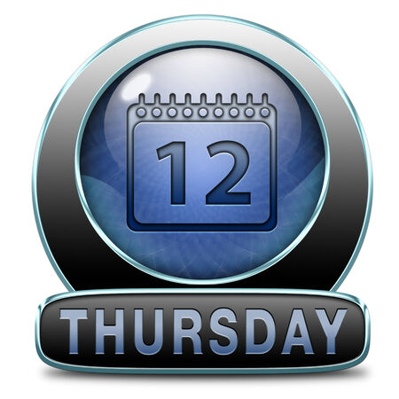 schedule appointment: thursday week next or following day schedule concept for appointment or event in agenda