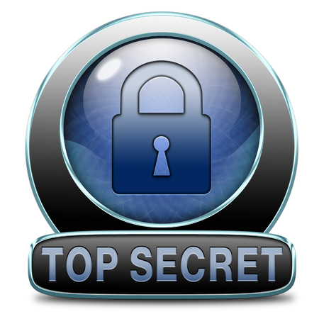 classified: top secret confidential and classified information private property or information icon sign or button