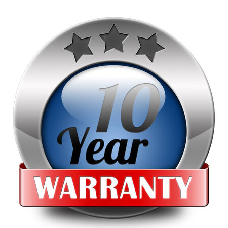 10 year warranty top quality product ten years assurance and replacement best top quality guarantee guaranteed commitment photo