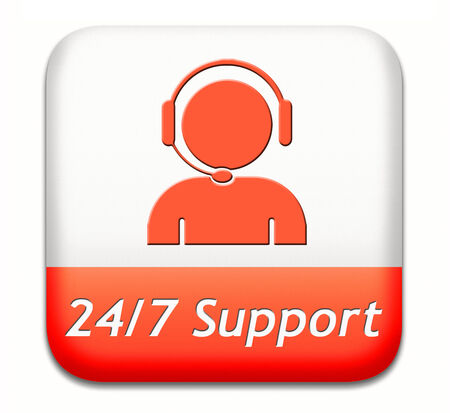 support desk icon or 247 help desk button technical assitance and customer service photo