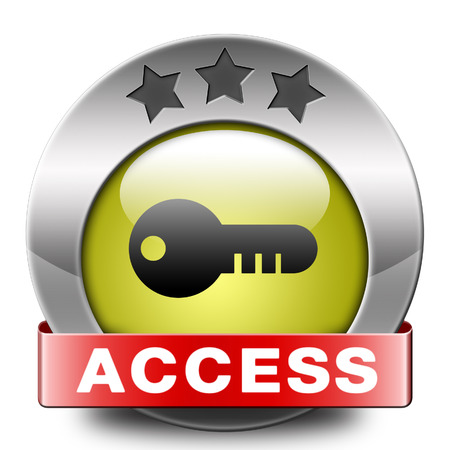 only members: access key icon password protected restricted area members only Stock Photo