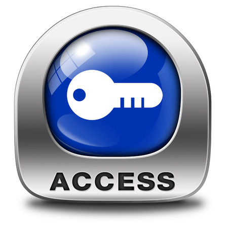members only: access key icon password protected restricted area members only Stock Photo