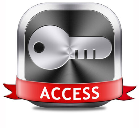 access button key icon password protected restricted area members only photo