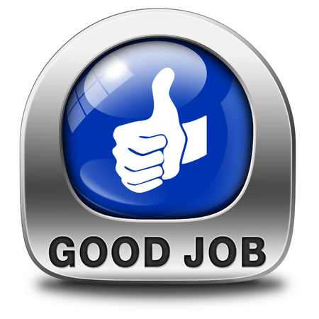 good job work well done excellent accomplishment Well done congratulations with your success. Good work icon or sign.  photo