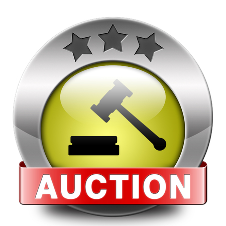 bidding: Auction sign online sale bidding and buying real estate cars and houses