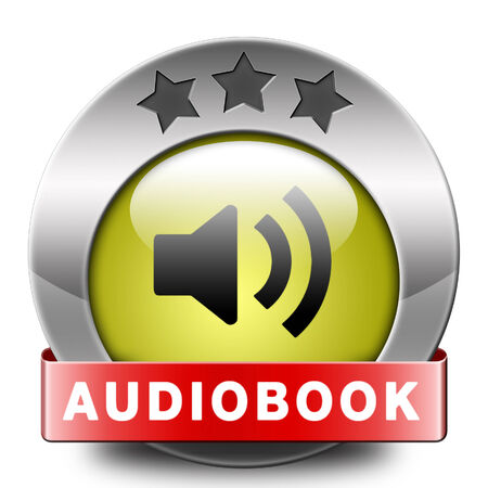 audiobook icon or sign listen online or buy and download audio book button photo