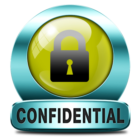 classified: confidential top secret classified information red label icon or stamp