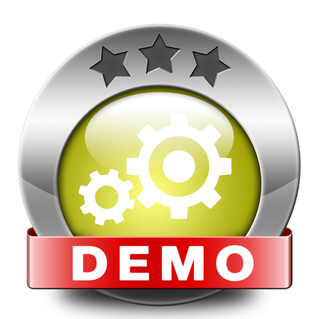 Demo icon download button for free trial demonstration photo