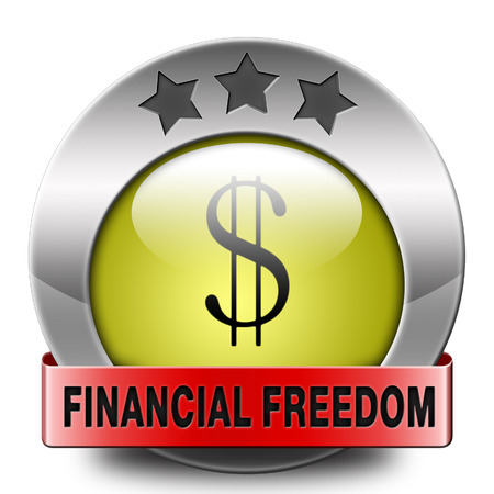 self sufficient: financial freedom and economic independence, self sufficient icon.