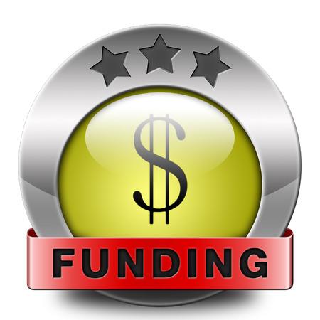 non profit: funding icon fund raising for charity money donation for non profit organization Stock Photo
