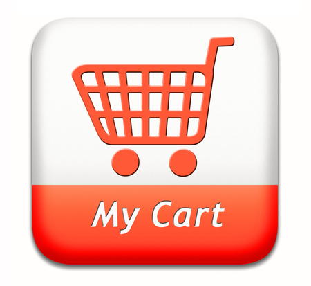 shopping order: my cart button placing shopping order at online webshop, internet web shop icon