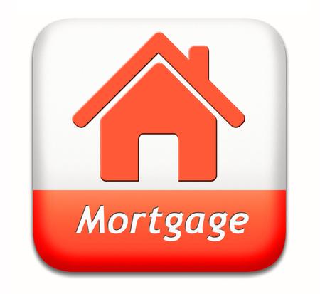 Ipoteca segno o casa tasto prestito pagare soldi torna a costi banca per evitare problemi di preclusione e di pignoramento Archivio Fotografico - 26968668