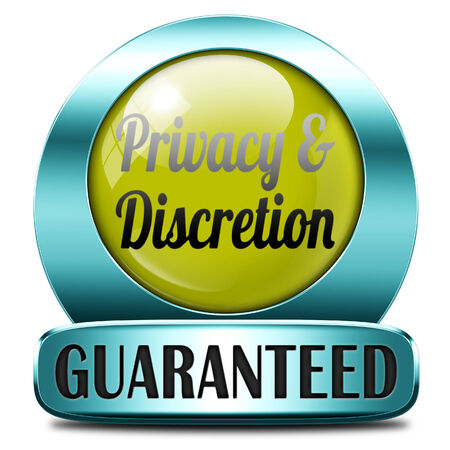 private information: private and personal information icon, banner for privacy protection and discretion of restricted info