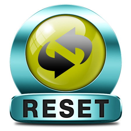 Reset icon start again or refresh button refresh or redo sign