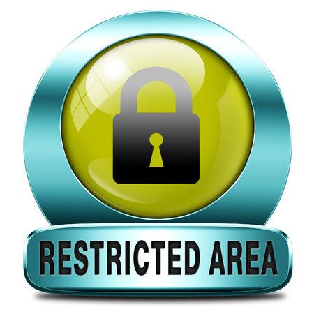 area restringida: protegida clave miembros de la zona restringida s�lo el acceso icono contrase�a Foto de archivo